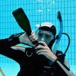 Unterwasser Sektempfang